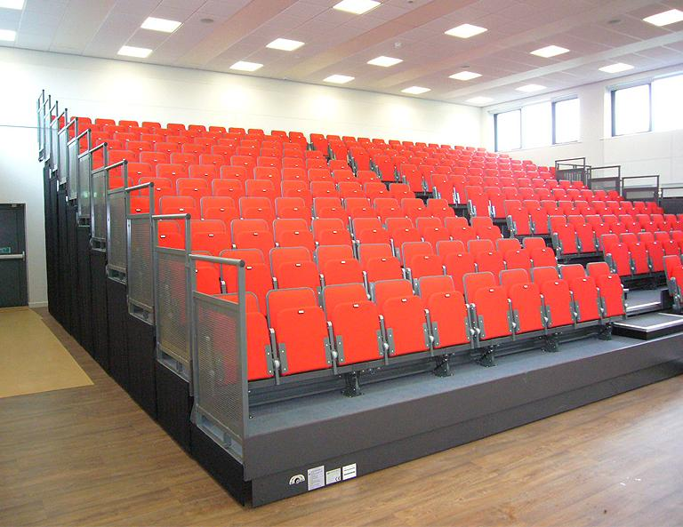 Shelley College Retractable Upholstered School Seating