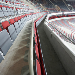 arena riser fixed seating