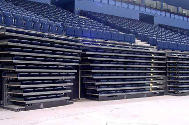 arena seating tapered retractable closed