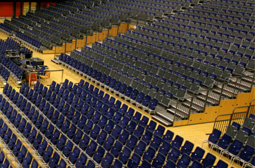 arena seating retractable vomitory