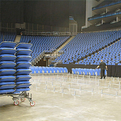 arena removable seating in construction