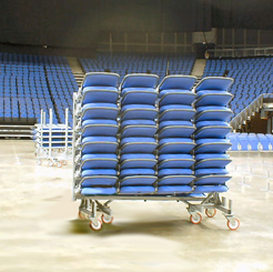 arena removable seating on trolley
